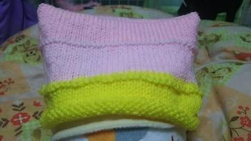 手編み帽子。大人サイズ。