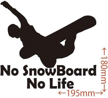ステッカー No SnowBoard No Life (スノーボード)・12