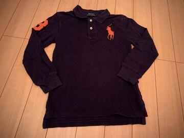 ラルフローレン 140 長袖ポロシャツ POLO 紺