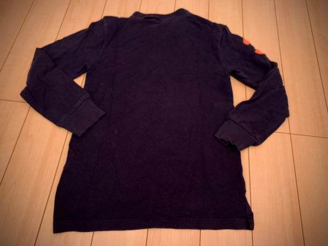 ラルフローレン 140 長袖ポロシャツ POLO 紺 < ブランドの