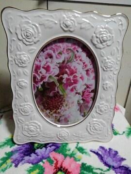 写真立て 25×19 ピンクの花