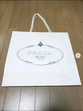 【PRADA★ショップ袋】MILANO♪白♪プレゼントなどに