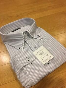 MARIO ESPERANZA  ビジネスストライプYシャツ  size8LB  グレー 7
