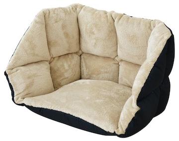 低反発ぬくもりクッション あったか座椅子 (ベージュ)