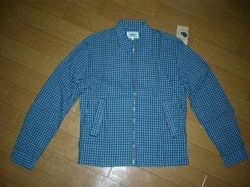 新品ラッツRATSチェックシャツジャケットS青系スイングトップ