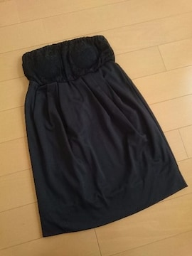 人気完売★リップサービス★レース切り替えコクーンワンピース ブラック/M 新品タグ付