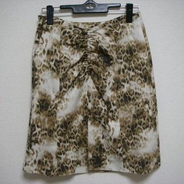 スピックアンドスパン ノーブル 38 柄 スカート