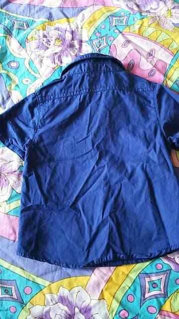 LAGKAW★アメカジ★ブルー★シャツ★カジュアル★アメカジsize90 < キッズ/ベビーの