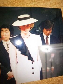 ★超貴重 NHK 生写真  ダイアナ妃 チャールズ皇太子 1986y 来日時 ★