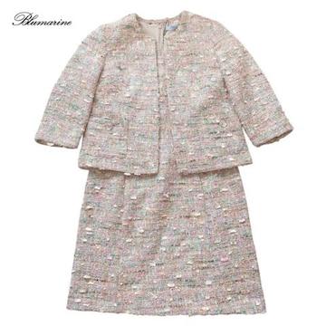 新品ブルマリンBlumarineツイードジャケット半袖ワンピ