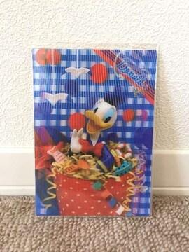 ディズニー 3Dポストカード ドナルド  新品