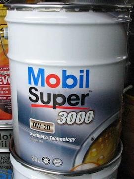 ☆ Mobil Super3000. 0W-20. API SP. ILSAC GF-6A. 20L.