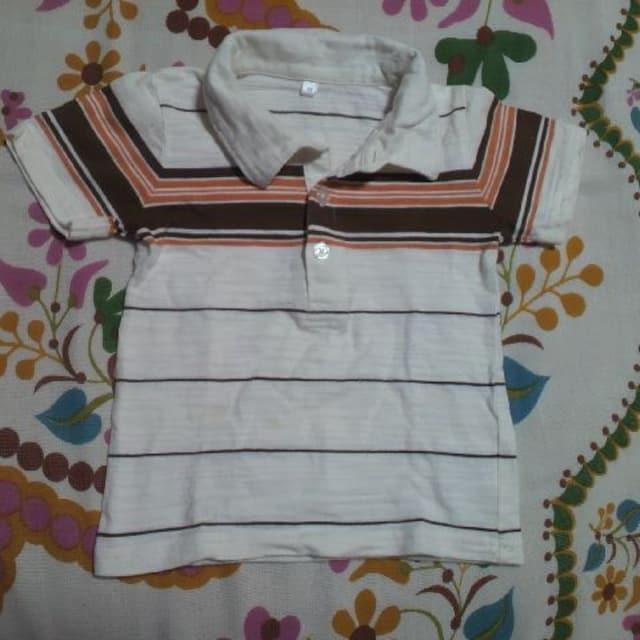 キッズ西松屋ボーダーポロシャツ 95�p  < キッズ/ベビーの