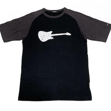 【美品】ギターモチーフ 丸首半袖Tシャツ/BURBERRY BLACK/黒/M