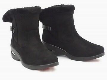 ショートブーツ 9552 スエード 防水 Mサイズ BLK 防寒 防滑