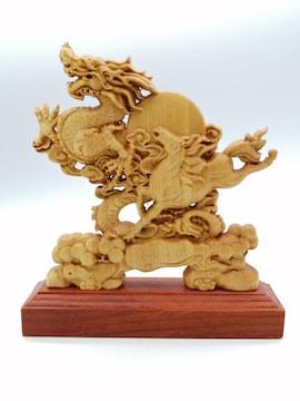 龍馬精神 木彫り 置物