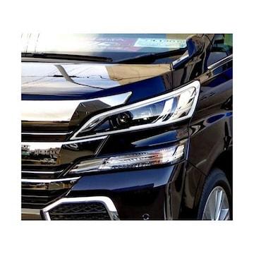 トヨタ ヴェルファイア 30系35系  クロームメッキ ヘッドライトリング ヘッド リム カバー 枠