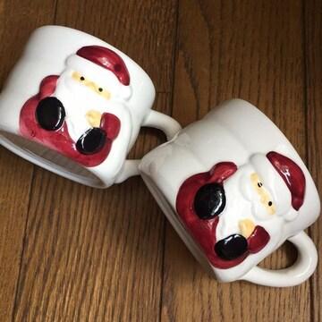 サンタさんのペアミニマグカップ