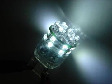 激照!T20型24連LEDダブルウェッジバルブ ホワイト