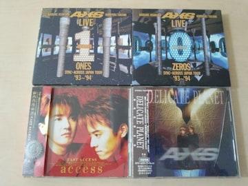 アクセスaccess CD4枚セット★浅倉大介 貴水博之