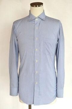 UNIQLO ユニクロ チェックシャツ ワイドカラー 長袖 ブルー M