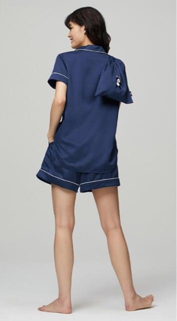 GU・崎陽軒×ケイタマルヤマ・パンダ刺繍サテンパジャマ桃3L < ブランドの