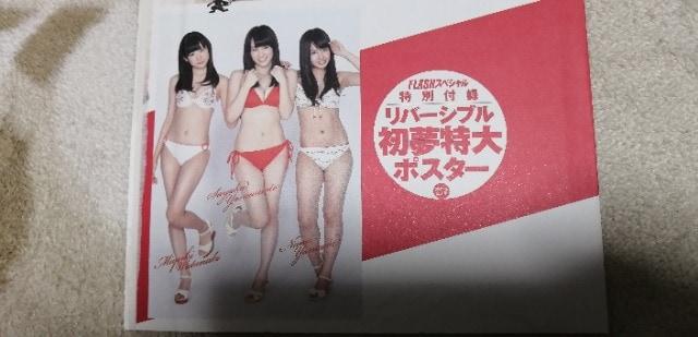 FLASHスペシャル2012年2.1号付録リバーシブル初夢特大ポスター☆AKB48他 < タレントグッズの