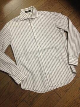 美品TOMORROWLAD ストライプシャツ 日本製 トゥモローランド