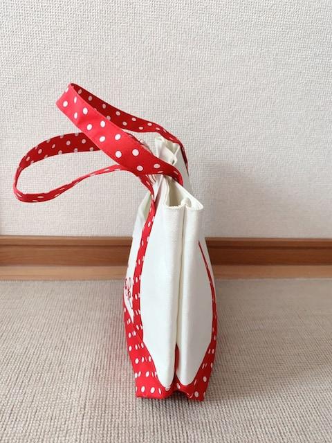 pink trick/ピンクトリック 赤×白ドット柄 ハンド/トートバッグ 未使用品 < 女性ファッションの