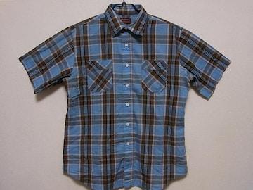 即決!USA古着●KINGSPORTチェックデザイン半袖シャツ!ビンテージ