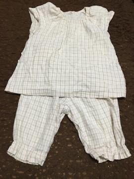 無印良品 女の子用 半袖パジャマ 90  保育園