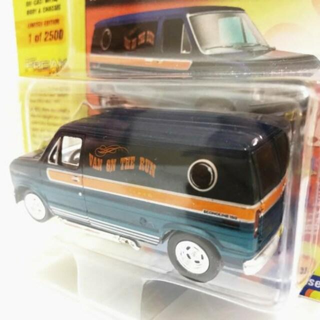 JL/'77 Fordフォード Econolineエコノライン 青 1/64 限定2500 < ホビーの