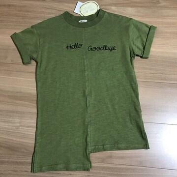 新品タグ付き110半袖Tシャツアシンメトリー.23