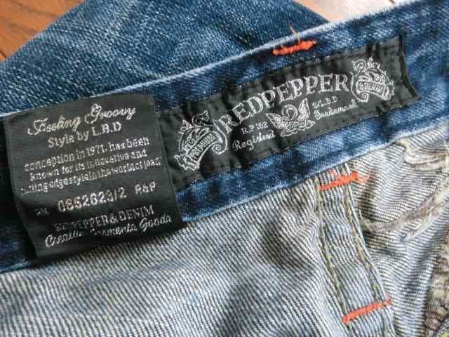 レッドペッパー REDPEPPER 刺繍 ジーンズ デニム 1201986 サイズ 32 < ブランドの