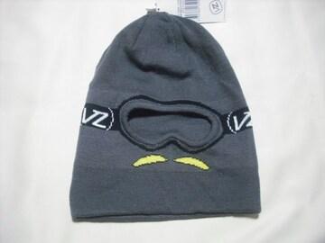 mb299 男 VON ZIPPER ボンジッパー 目出し帽 ニット帽 グレー