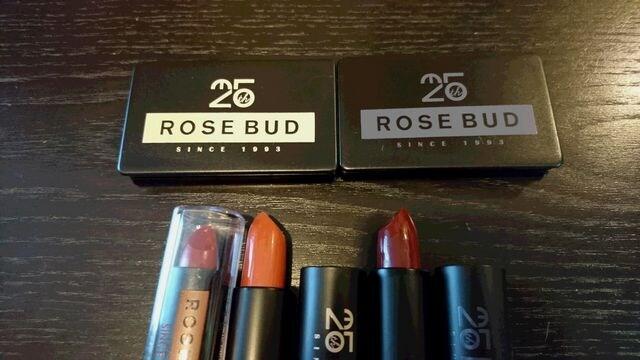 ローズバッドROSEBUDアイシャドウ2色、リップ3色新品未使用 < ブランドの