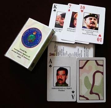 イラク戦争官給品 米軍配布用イラク高官指名手配トランプ