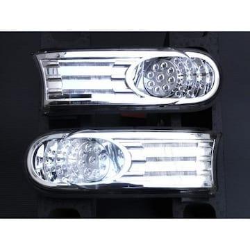 トヨタ クリスタル LEDヘッドライトウインカー パークシグナル メッキ FJクルーザー