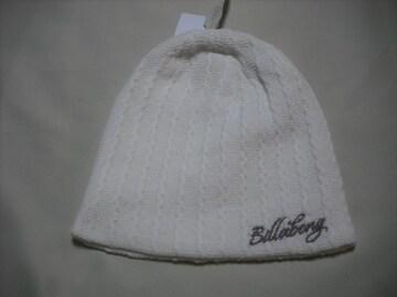 wb173 女 BILLABONG ビラボン ニット帽 ホワイト
