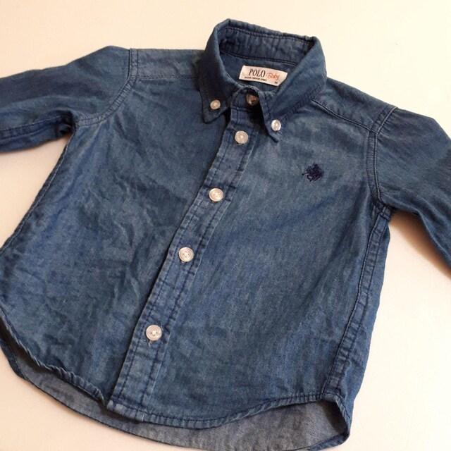POLO Baby ポロ ベビー デニム ダンガリー シャツ サイズ 80  < ブランドの