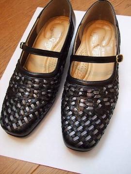 パンプス 靴 外反拇趾 柔らか素材 美品 レディース