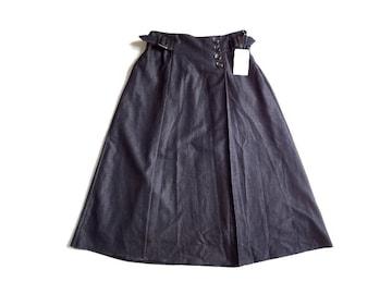 新品 GRANCRUE グランクルー ベルト使い  フレア スカート