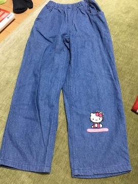 美品 キティちゃんジーンズ 130