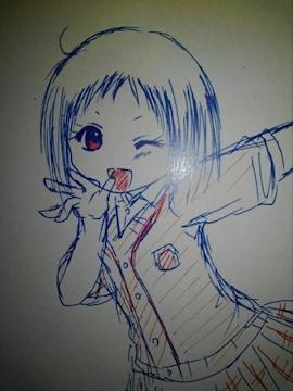福岡県の女子高生スーラちゃん制服オリジナル自作イラスト