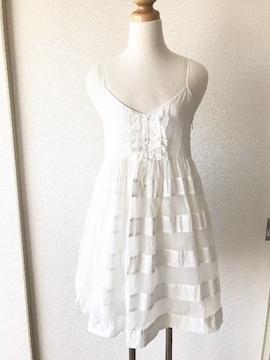 [MISCH MASCH]★ホワイトカラー・コットンワンピース★