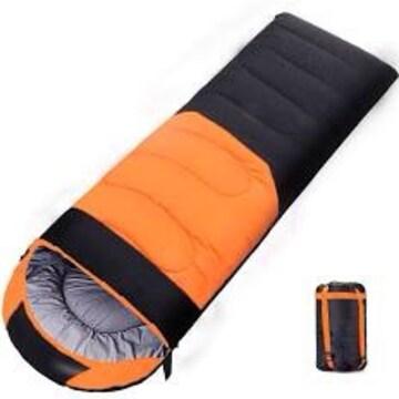 オレンジ シュラフ 冬用 寝袋 冬用 ダウン シュラフ 封筒型【最