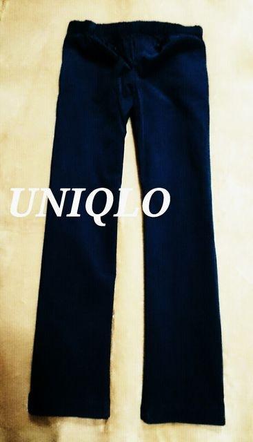 【UNIQLO】コーデュロイイージーパンツ M(76〜84�p)/Navy  < ブランドの