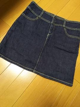 美品 ウエスト62/デニムスカート