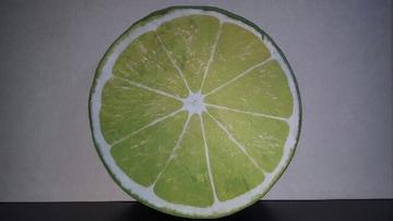 【ライム★クッション】#お洒落#果物#雑貨#新品#直径38cm#大きい