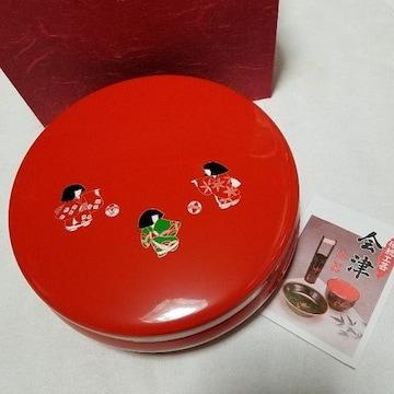 伝統工芸会津漆器 菓子器 菓子鉢 未使用品